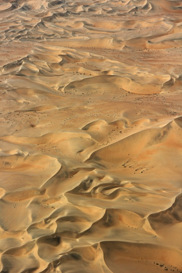 Namibian desert viewed from the air