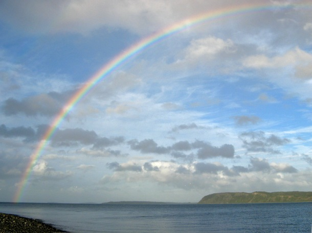 Rainbow over Chiloe Island, Chile
