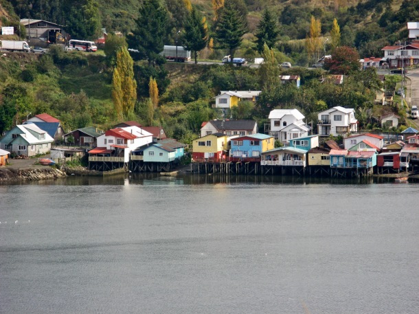 Stilt houses in Chiloe, Chile