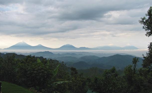 Virunga Volcanoes, Mgahinga, Uganda. Scenic view.