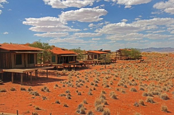 Open-sided chalets at Wolwedans Dune Lodge, NamibRand Nature Reserve, Namibia