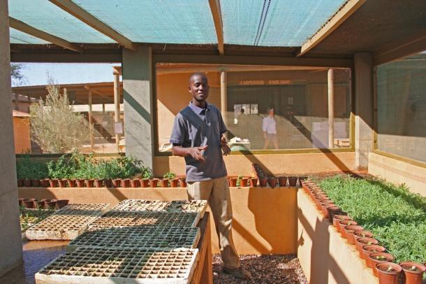 Plant nursery at Wolwedans Dunes Lodge, Namibia, Africa