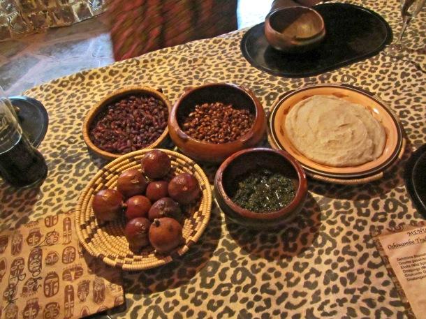 Ovambo food served in Mondesa township, Swakopmund, Namibia