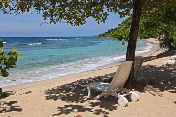 Empty Caribbean beach in Northern Haiti