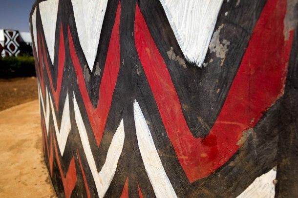 Panted walls in Sirigu, Ghana, traditional African painting