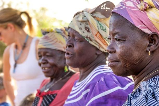 Frafra craftswomen, SWOPA in Sirigu, Ghana