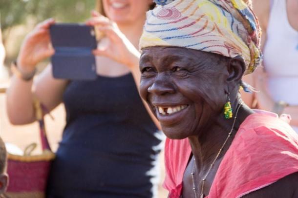 African woman Sirigu Ghana laughing