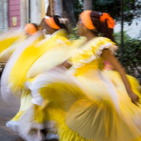 Afrocolombian dancers in Cartagena