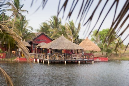 Ghana lodge across the lagoon, Volta Region