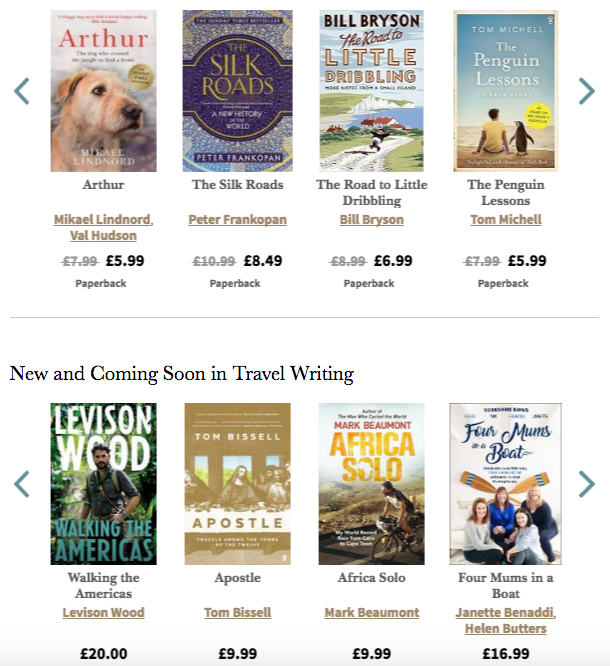 women travel writers travel literature waterstones