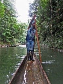 Afroecuadorian dugout canoe cayuco Esmeraldas Ecuador