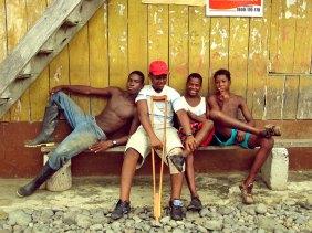 Afroecuadorian boys in Wimbi, Esmeraldas, Ecuador