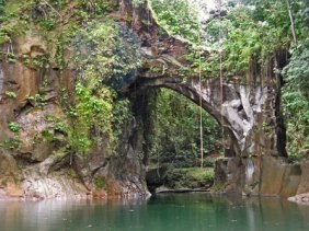 El Tunel near Wimbi, Esmeraldas, Ecuador rock arch