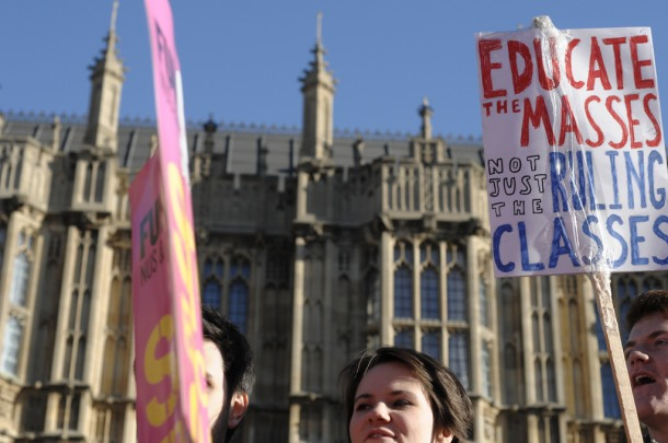 Student protest London education cuts
