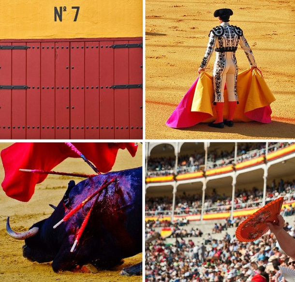 Bullfight in Seville, Spain. Plaza de Toros.
