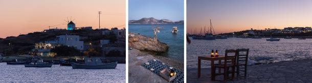 Small Cyclades sunset with raki, Greece