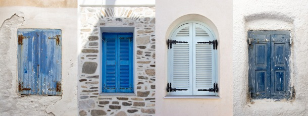 Windows of the Small Cyclades, Greece