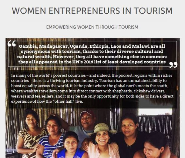 Women in tourism, female entrepreneurs